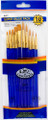 Royal Langnickel Super Value Pack Golden Taklon Brush Set of 10 Pieces No. SVP-7