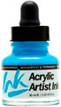 Acrylicos Vallejo Acrylic Artist Ink Light Blue 30ml