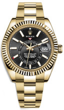 Rolex Yellow Gold Sky Dweller 326938 Black