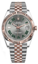 Rolex Datejust 41mm Everose Gold and Steel 126331 GRJ