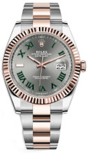 Rolex Datejust 41mm Everose Gold and Steel 126331 GRO