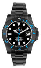 Rolex Ceramic Blue Submariner 116610  DLC-PVD