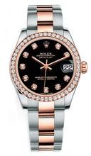 Rolex New Style Datejust Midsize Two Tone Custom Diamond Bezel & Diamond Dial on Oyster Bracelet P178271BDDO