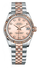 Rolex New Style Datejust Midsize Two Tone Custom Diamond Bezel & Diamond Dial on Jubilee Bracelet P178271RDFJ