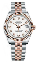 Rolex New Style Datejust Midsize Two Tone Custom Diamond Bezel & Diamond Dial on Jubilee Bracelet P178271WDFJ