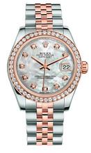 Rolex New Style Datejust Midsize Two Tone Custom Diamond Bezel & Diamond Dial on Jubilee Bracelet P178271MOPDDJ