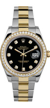Rolex 41mm Datejust II 116333 Custom Black Diamonds