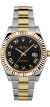 Rolex 41mm Datejust II 116333 Black Roman