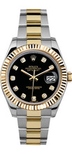 Rolex 41mm  Datejust II 116333 Custom Black Diamond