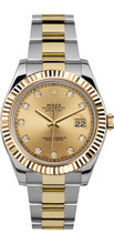 Rolex 41mm  Datejust II 116333 Custom Champaign Diamond