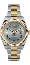 Rolex 41mm  Datejust II 116333 Grey with Green