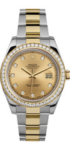 Rolex 41mm  Datejust II 116333 Custom Champagne Diamonds