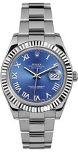 Rolex 41mm Datejust II Stainless Steel 116334 Blue Roman