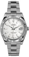 Rolex 41mm Datejust II Stainless Steel 116334 White Index