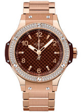 Hublot Big Bang 38 mm CAPPUCCINO GOLD DIAMONDS BRACELET 361.PC.3380.PC.1104