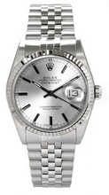 Rolex Men's Datejust Stainless Steel  Silver Index Dial