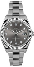 Rolex 41mm Datejust II Stainless Steel 116334 Custom Rhodium Diamond