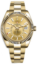 Rolex Yellow Gold Sky Dweller 326938 Champagne
