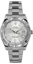 Rolex 41mm Datejust II Stainless Steel 116334 Silver Index