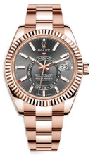 Rolex Rose Gold Sky Dweller 326935 Rhodium