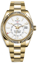 Rolex Yellow Gold Sky Dweller 326938 White
