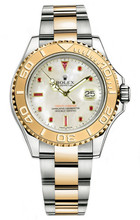 Rolex Yacht-Master Two-Tone Custom Pearl Ruby 16623 Pre-Owned