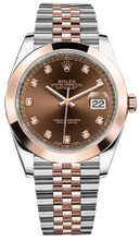 Rolex Datejust 41mm Everose Gold and Steel