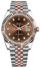 Rolex Datejust 41mm Everose Gold and Steel 126331 CDFJ