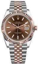 Rolex Datejust 41mm Everose Gold and Steel 126331 CIFJ
