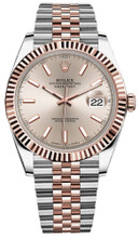 Rolex Datejust 41mm Everose Gold and Steel 126331 SIFJ