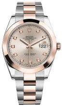 Rolex Datejust 41mm Everose Gold and Steel 126301 SDSO