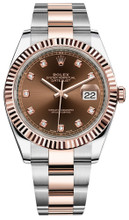 Rolex Datejust 41mm Everose Gold and Steel 126331 CDFO