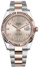 Rolex Datejust 41mm Everose Gold and Steel 126331 SDFO