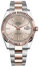 Rolex Datejust 41mm Everose Gold and Steel 126331 SIFO