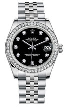 Rolex New Style Datejust Midsize Stainless Steel Custom Diamond Bezel & Diamond Dial on Jubilee Bracelet P178240BDDJ