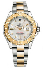 Rolex Yacht-Master Two-Tone Custom Pearl Sapphire 16623 Pre-Owned