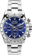 Rolex Pre Owned Steel Daytona 116520 Custom Blue