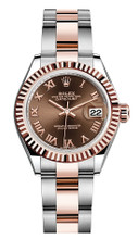 Rolex Lady Datejust 28mm Everose Fluted Two-Tone 279171CRFO