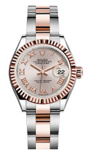 Rolex Lady Datejust 28mm Everose Fluted Two-Tone 279171SRFO