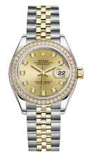 Rolex Lady Datejust 28mm Diamond Bezel Two-Tone 279383 CDDJ