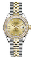 Rolex Lady Datejust 28mm Diamond Bezel Two-Tone 279383 CRDDJ