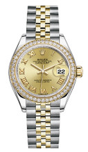 Rolex Lady Datejust 28mm Diamond Bezel Two-Tone 279383 CRDJ