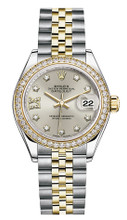 Rolex Lady Datejust 28mm Diamond Bezel Two-Tone 279383 SRDDJ