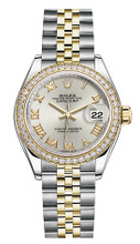 Rolex Lady Datejust 28mm Diamond Bezel Two-Tone 279383 SRDJ