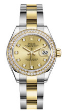 Rolex Lady Datejust 28mm Diamond Bezel Two-Tone 279383 CDDO