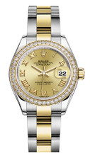 Rolex Lady Datejust 28mm Diamond Bezel Two-Tone 279383 CRDO