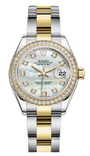 Rolex Lady Datejust 28mm Diamond Bezel Two-Tone 279383 MOPDDO