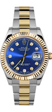 Rolex 41mm  Datejust II 116333 Custom Blue Diamond