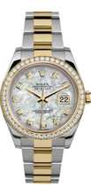 Rolex 41mm Datejust II 116333 Custom Mother of Pearl Diamonds