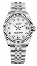 Rolex New Style Datejust Midsize Stainless Steel Custom Diamond Dial on Jubilee Bracelet P178240WDJ